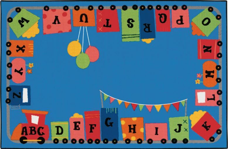 Alphabet Fun Train Kids Rug Rug Size: 6' x 9'