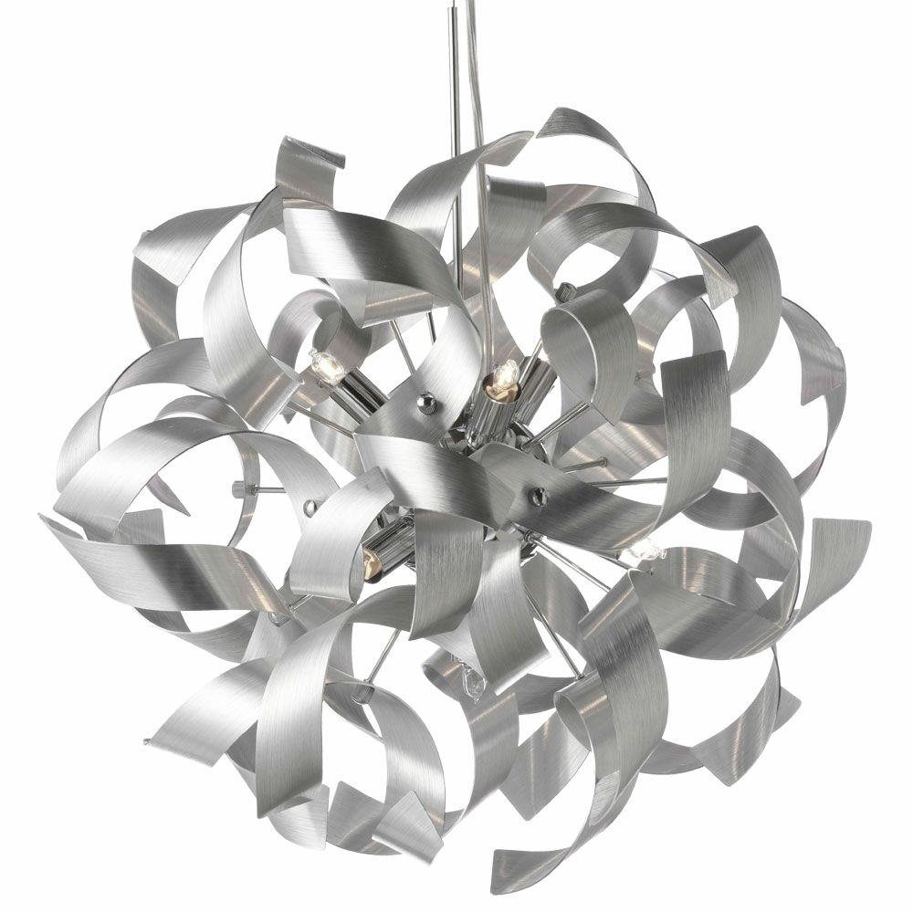 Partizon 9-Light Globe Chandelier Finish: Silver