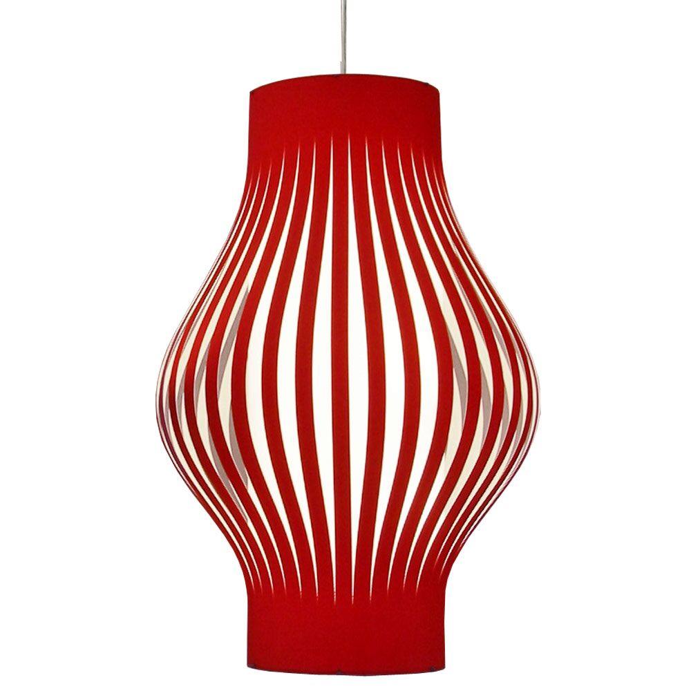 Toro 6-Light Lantern Pendant Shade Color: Red