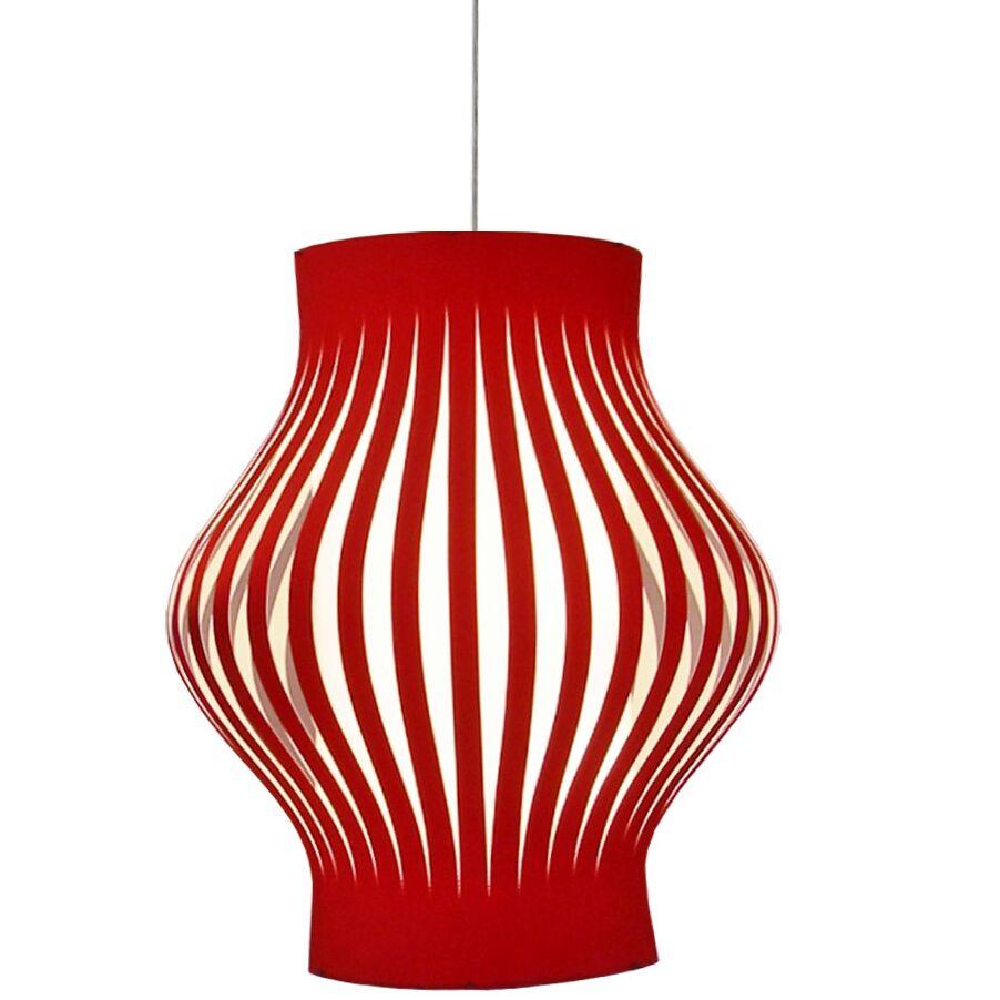 Toro 4-Light Lantern Pendant Shade Color: Red