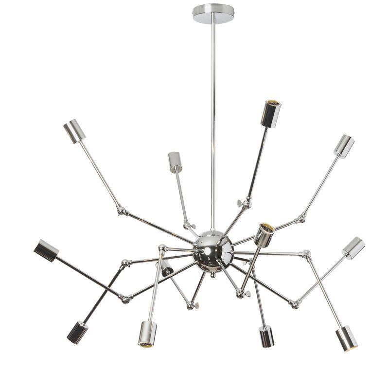 Desoto 12-Light Sputnik Chandelier Finish: Polished Chrome