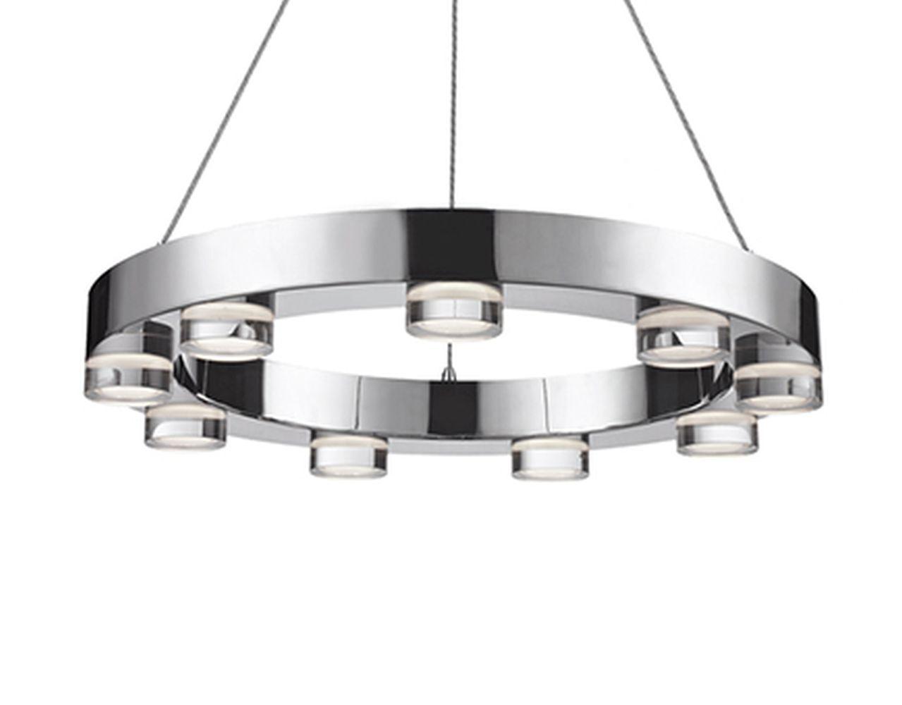 Mackenzie 9-Light LED Wagon Wheel Chandelier