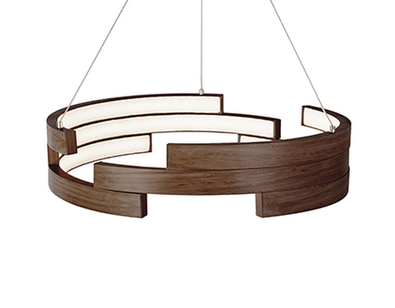 City Chic 1-Light Drum Pendant Finish: Walnut, Size: 5