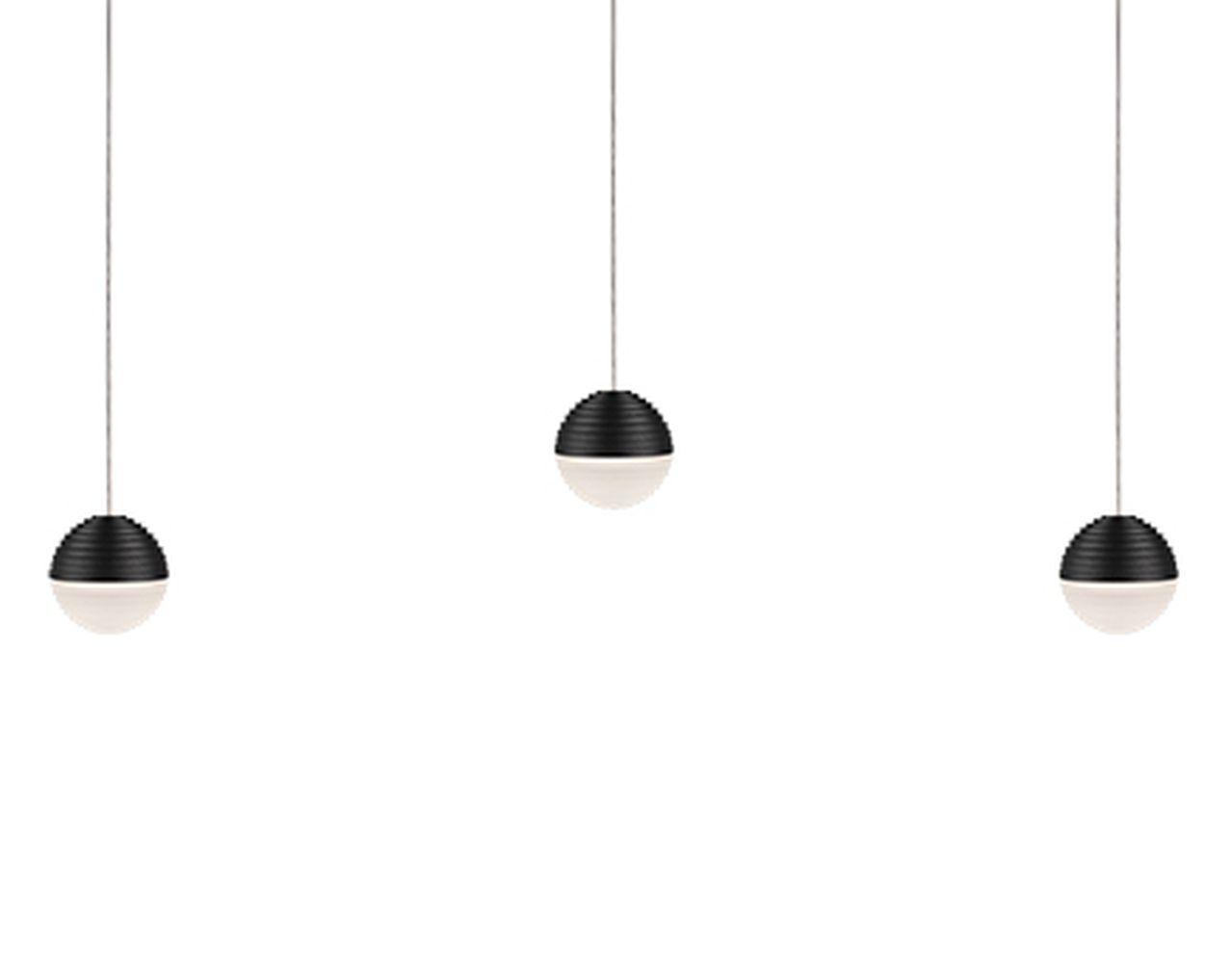 Divine 3-Light Pendant Shade Color: Black/Cream