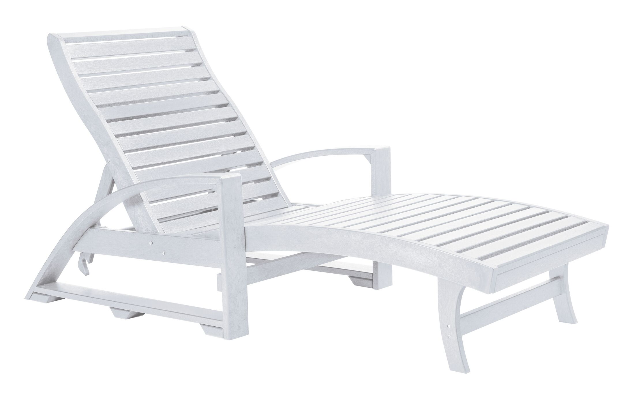 Raja Reclining Chaise Lounge Color: White