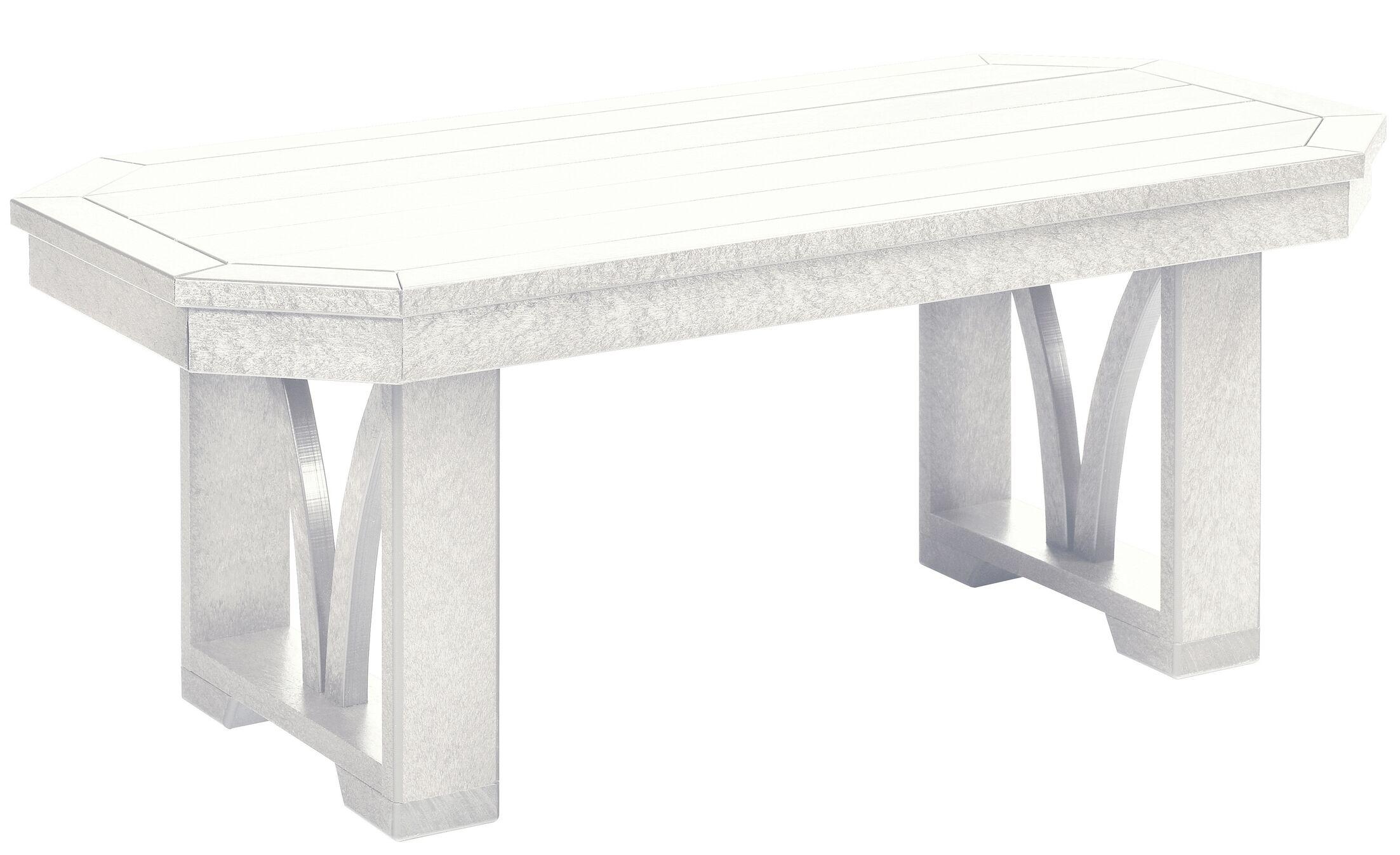 Raja Plastic Coffee Table Color: Slate Gray, Size: 17