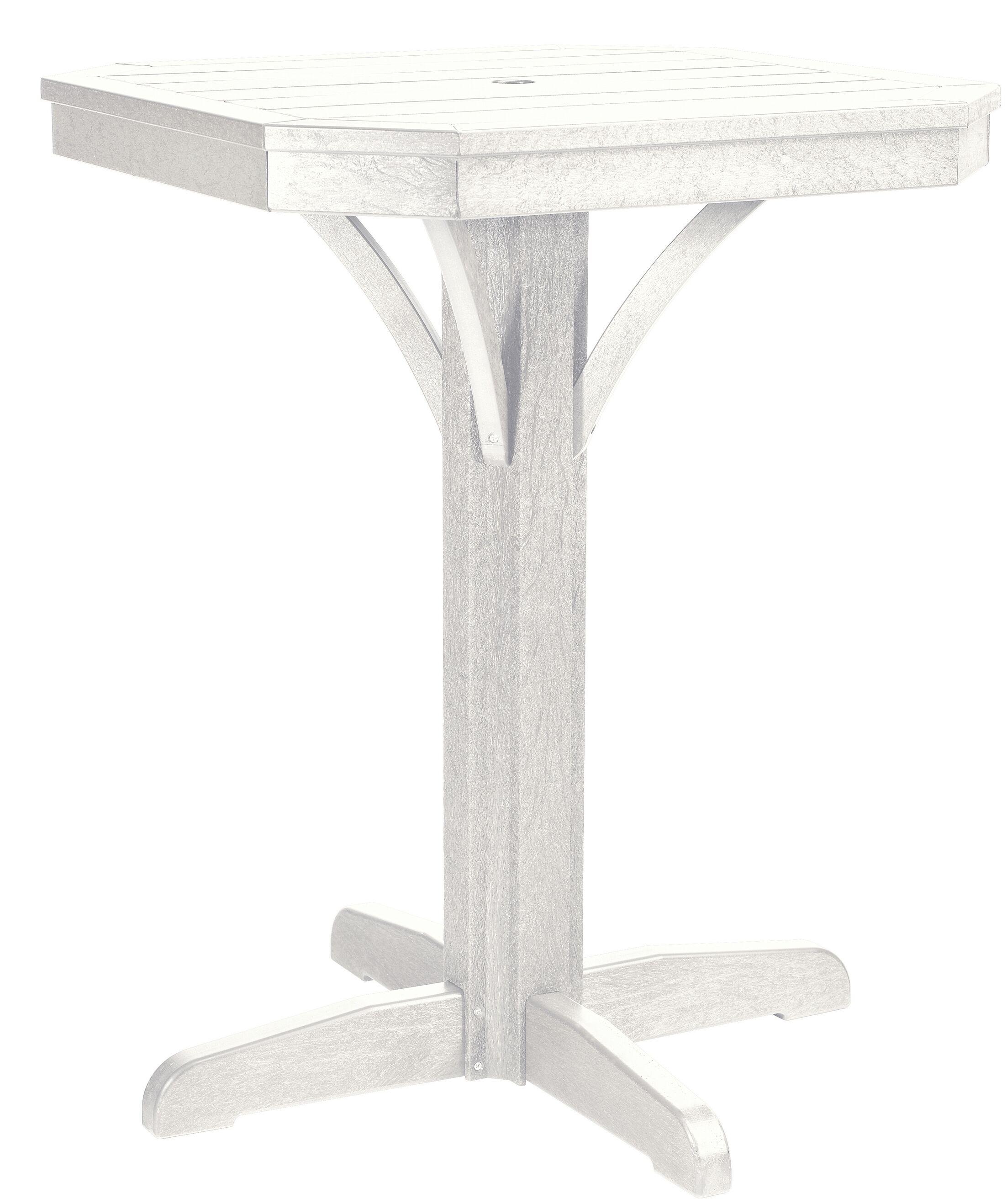 Raja Plastic Bar Table Color: White, Size: 36