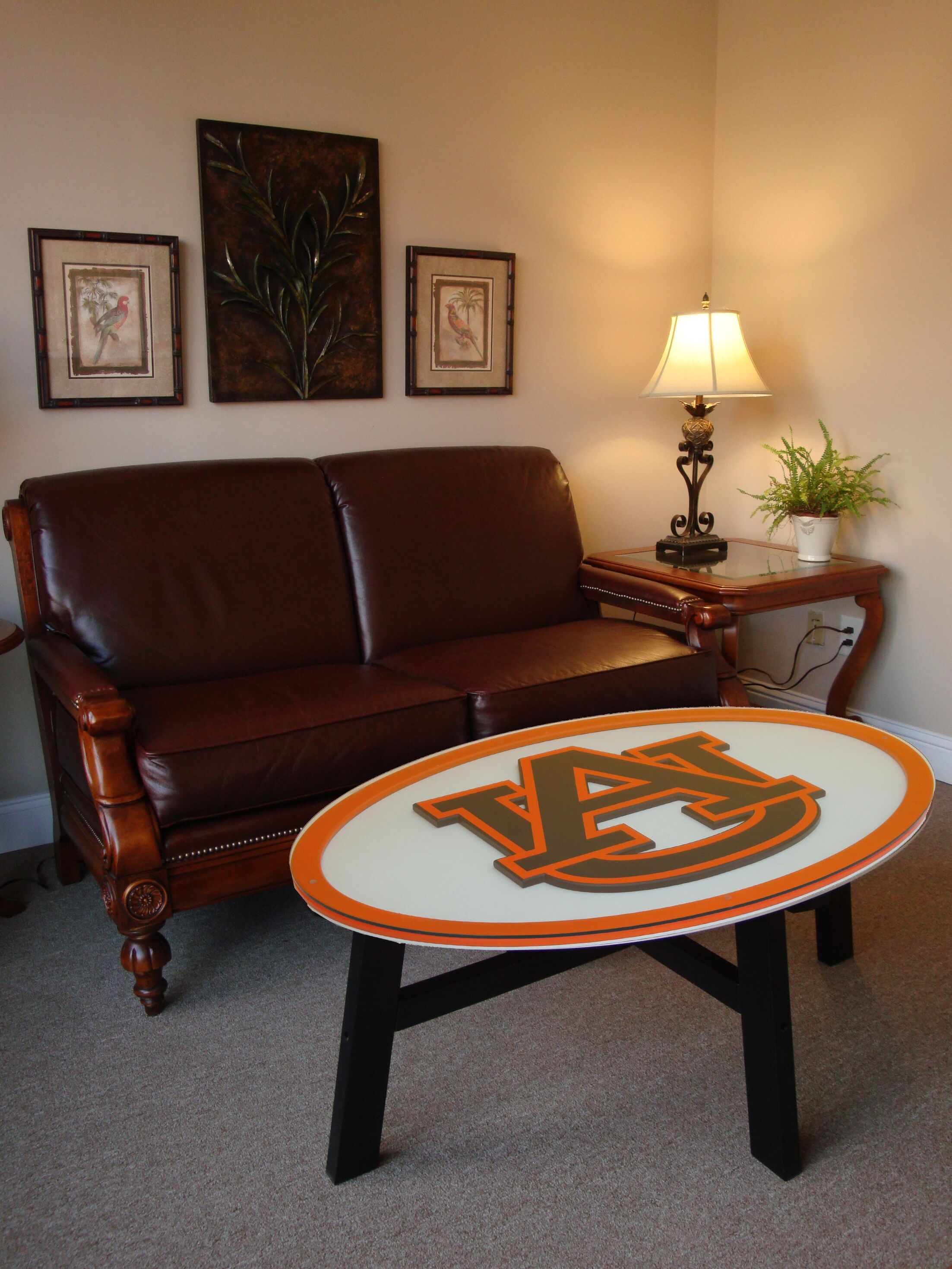 Ncaa Coffee Table NCAA Team: Auburn