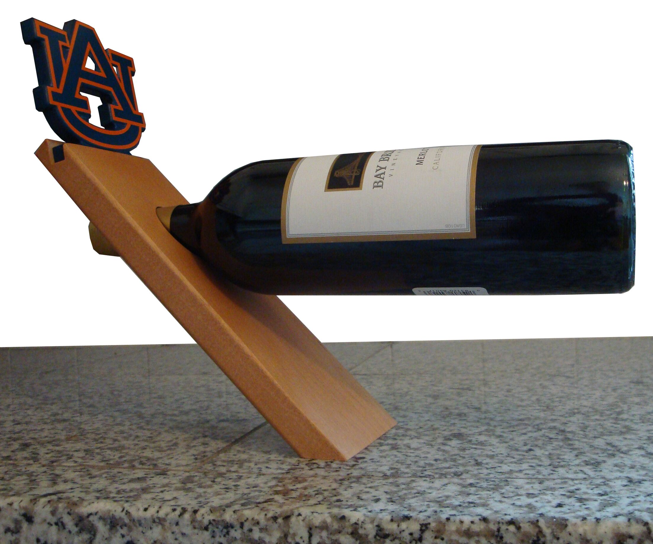 NCAA Floating Stand 1 Bottle Tabletop Wine Rack NCAA Team: Auburn