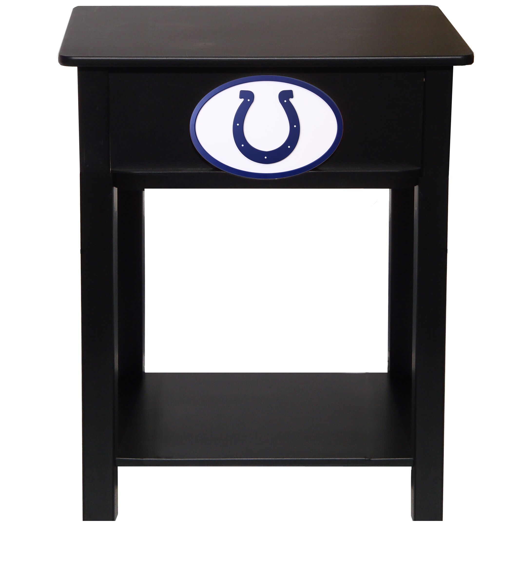 Nfl End Table With Storage NFL Team: Indianapolis Colts