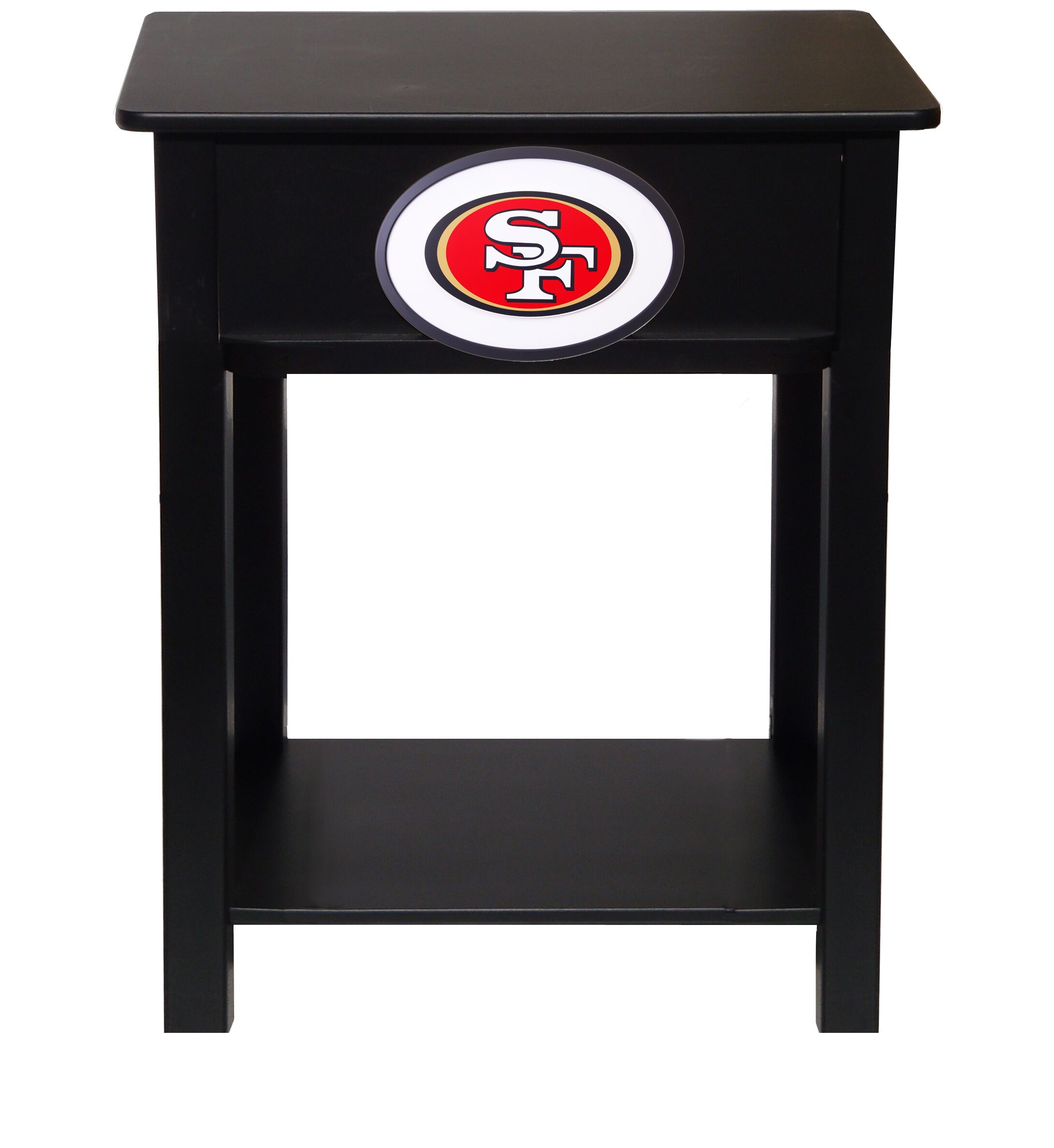 Nfl End Table With Storage NFL Team: San Francisco 49ers