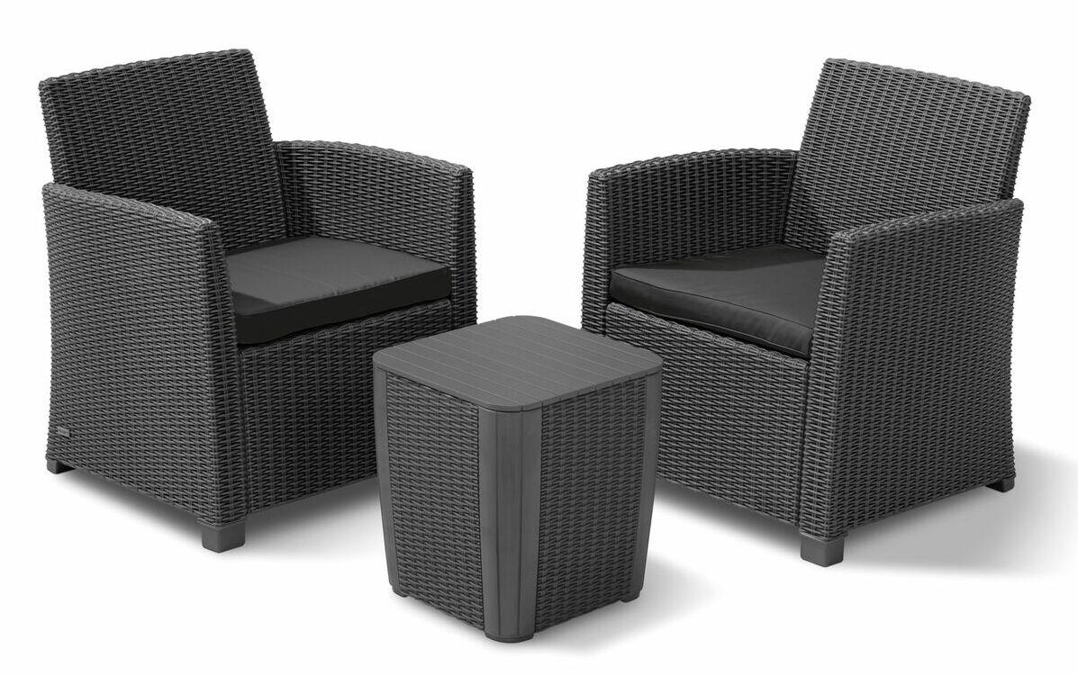 Venetta 3 Piece Conversation Set with Cushions