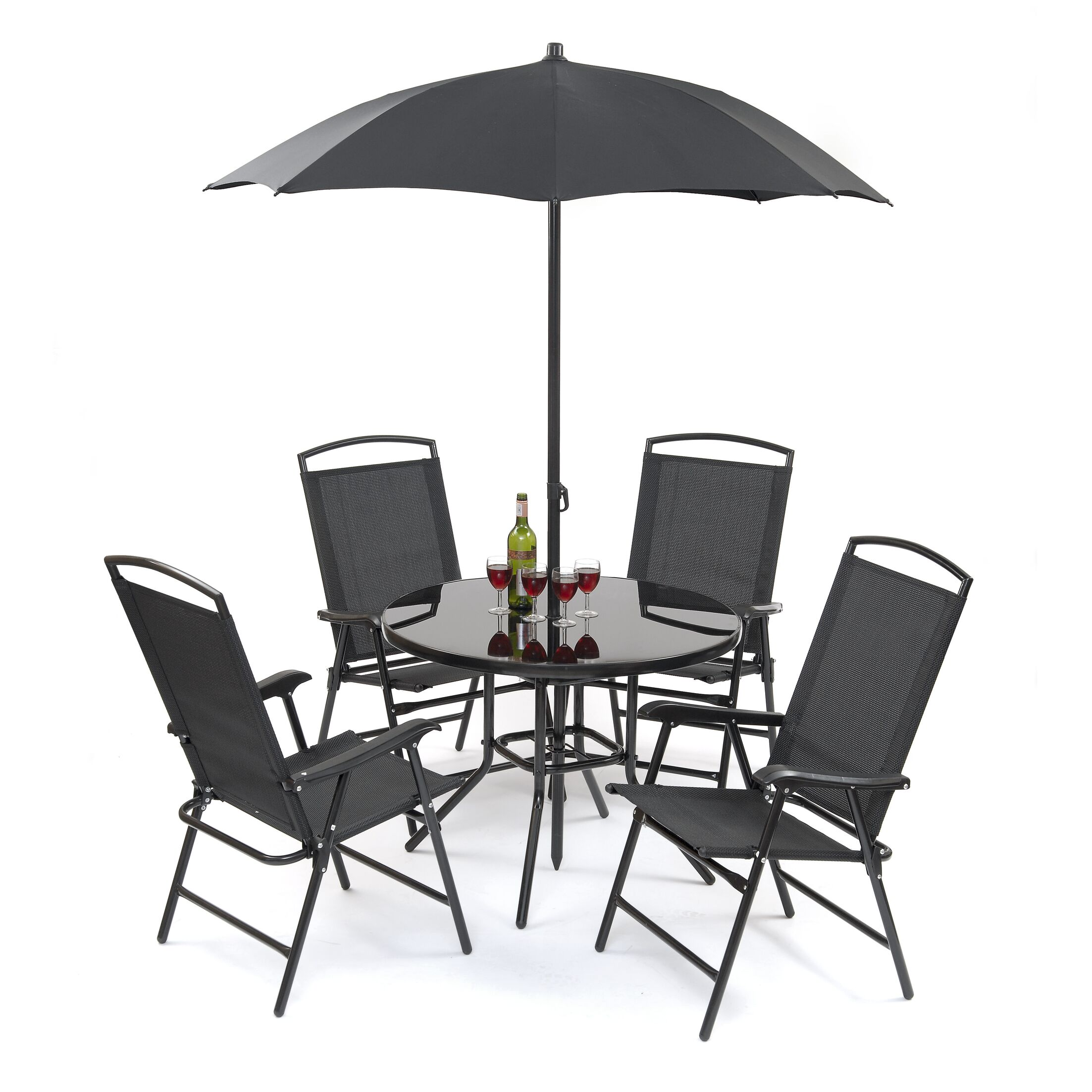 Buxton 5 Piece Dining Set with Umbrella