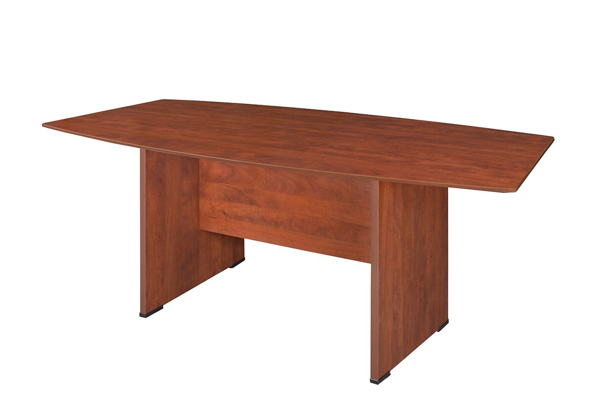 Quintero Boat Shaped Conference Table Finish: Cherry, Size: 6' L