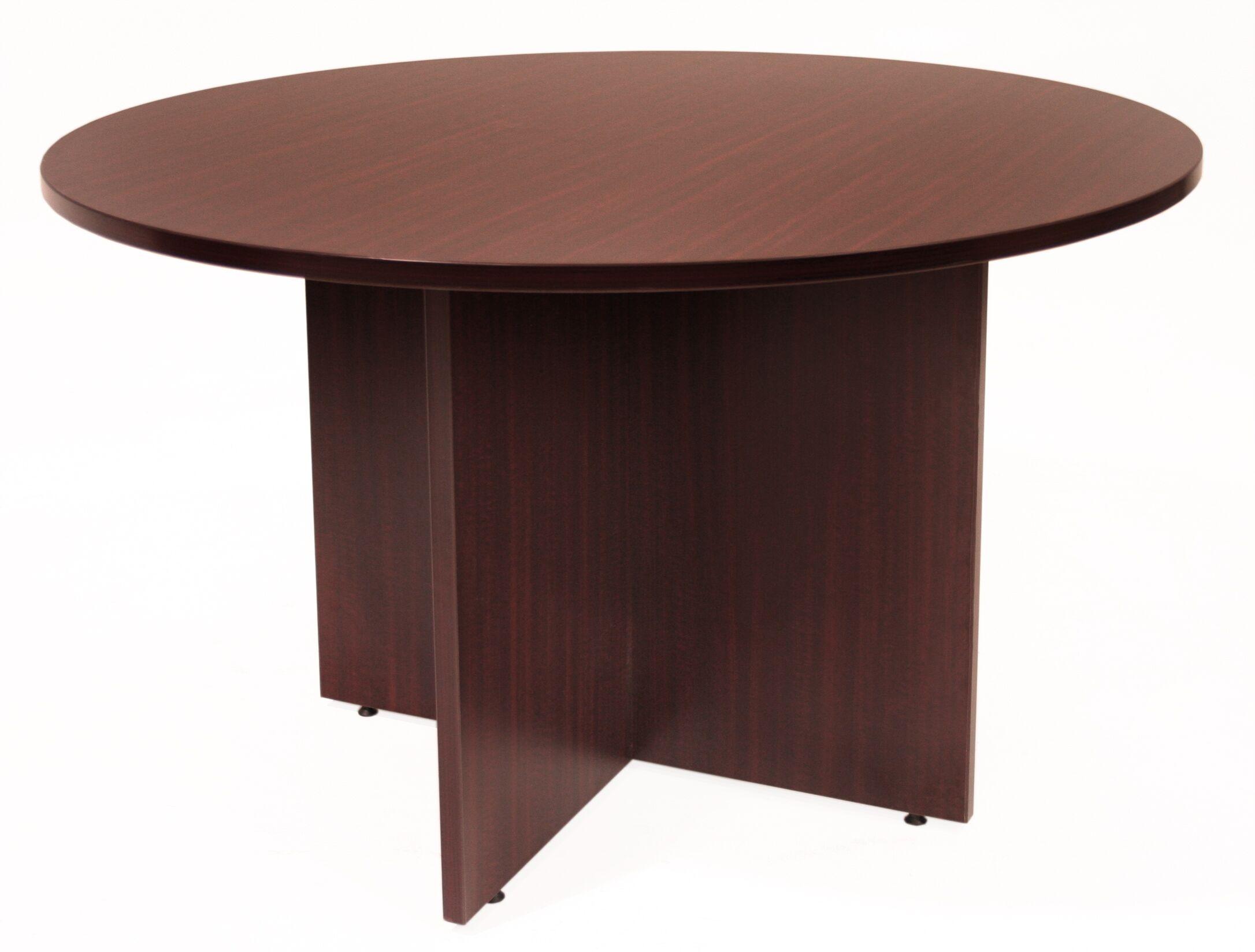Legacy Circular Conference Table Size: 4' L Diameter, Finish: Mahogany
