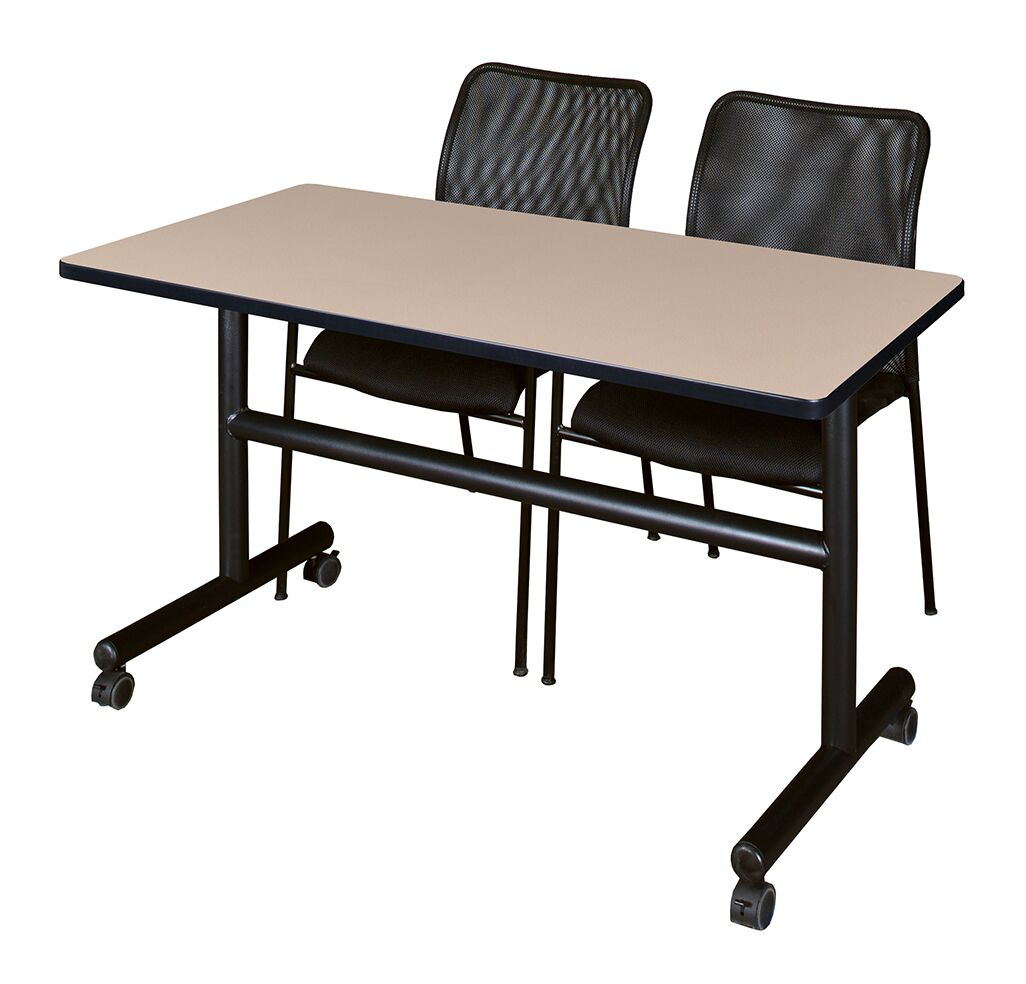 Marin Training Table with Chairs Tabletop Finish: Beige, Size: 29