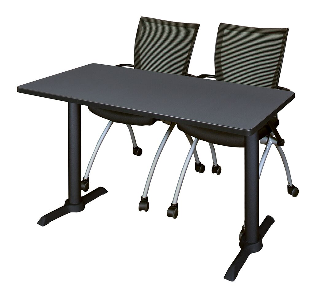 Hendrix Training Table with Chairs Tabletop Finish: Mocha Walnut, Size: 60