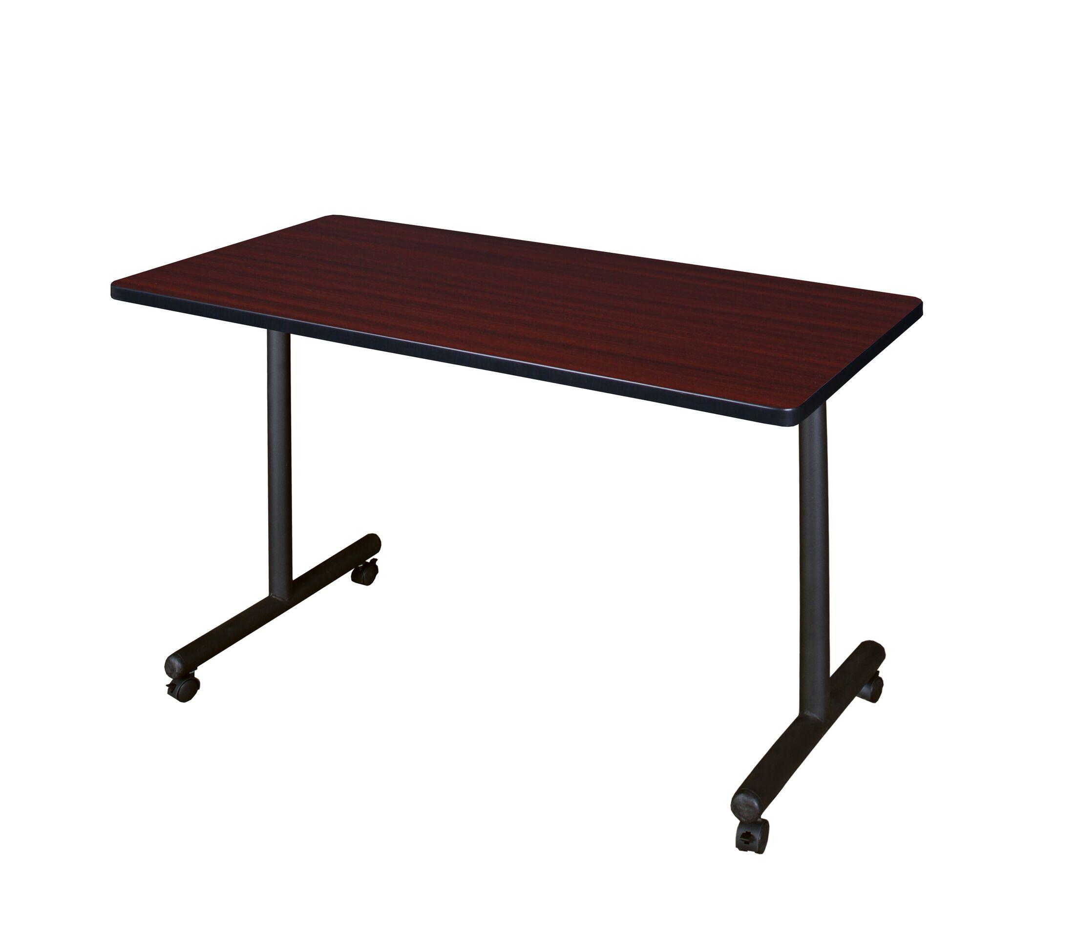 Training Table with Wheels Tabletop Finish: Mahogany, Size: 48