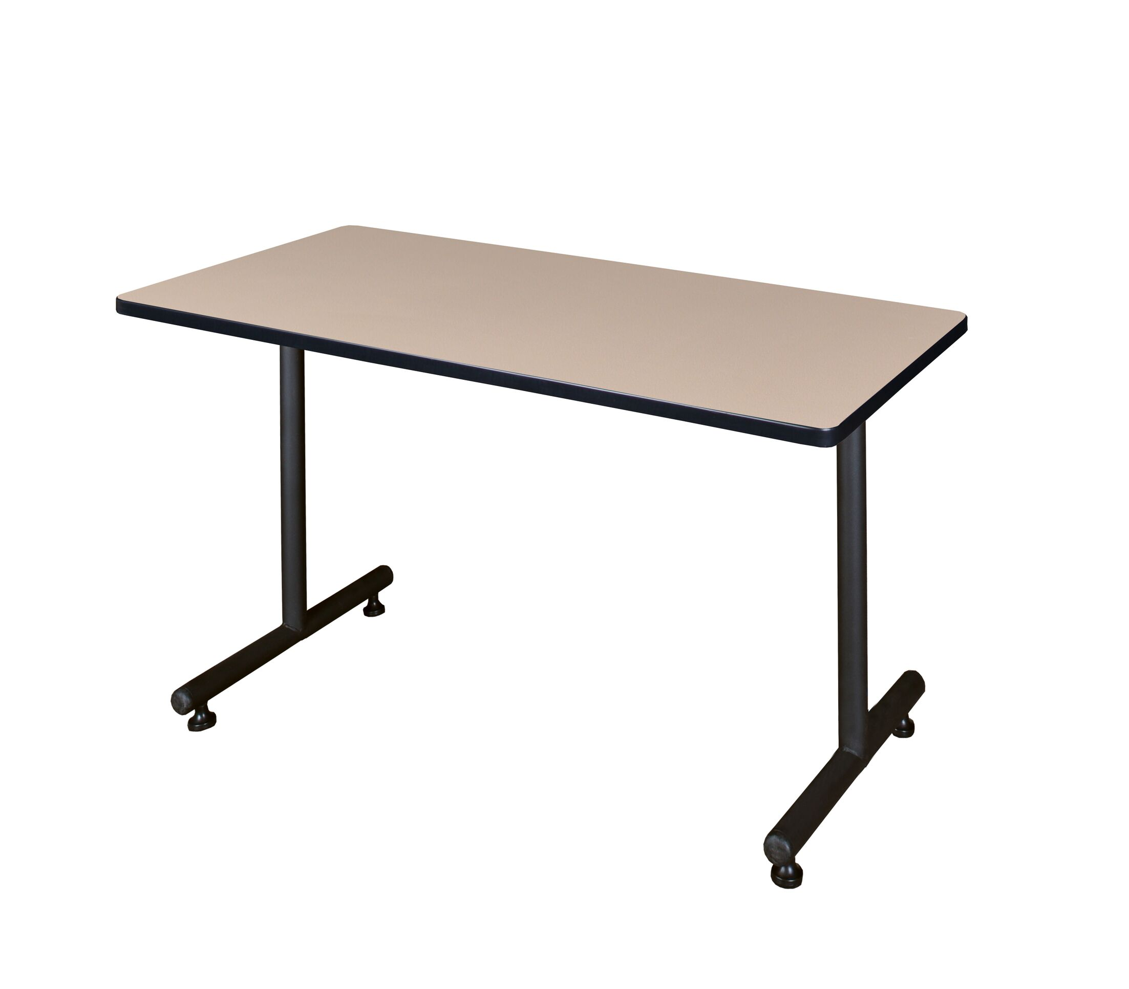 Training Table with Wheels Tabletop Finish: Grey Nebula, Size: 72