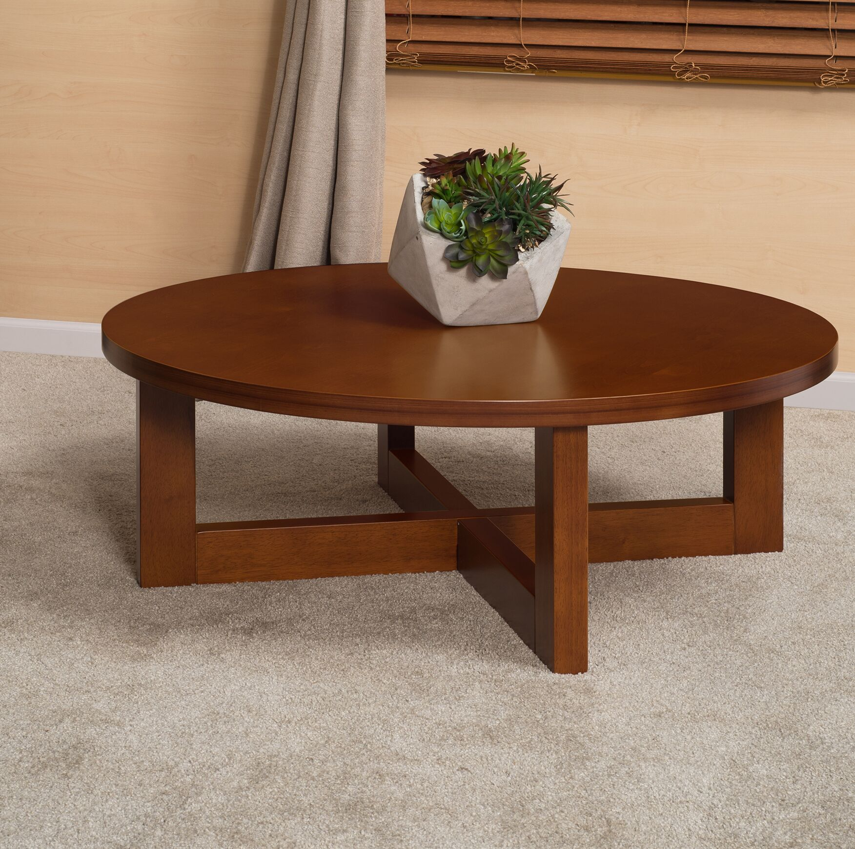 Regan Coffee Table Color: Cherry