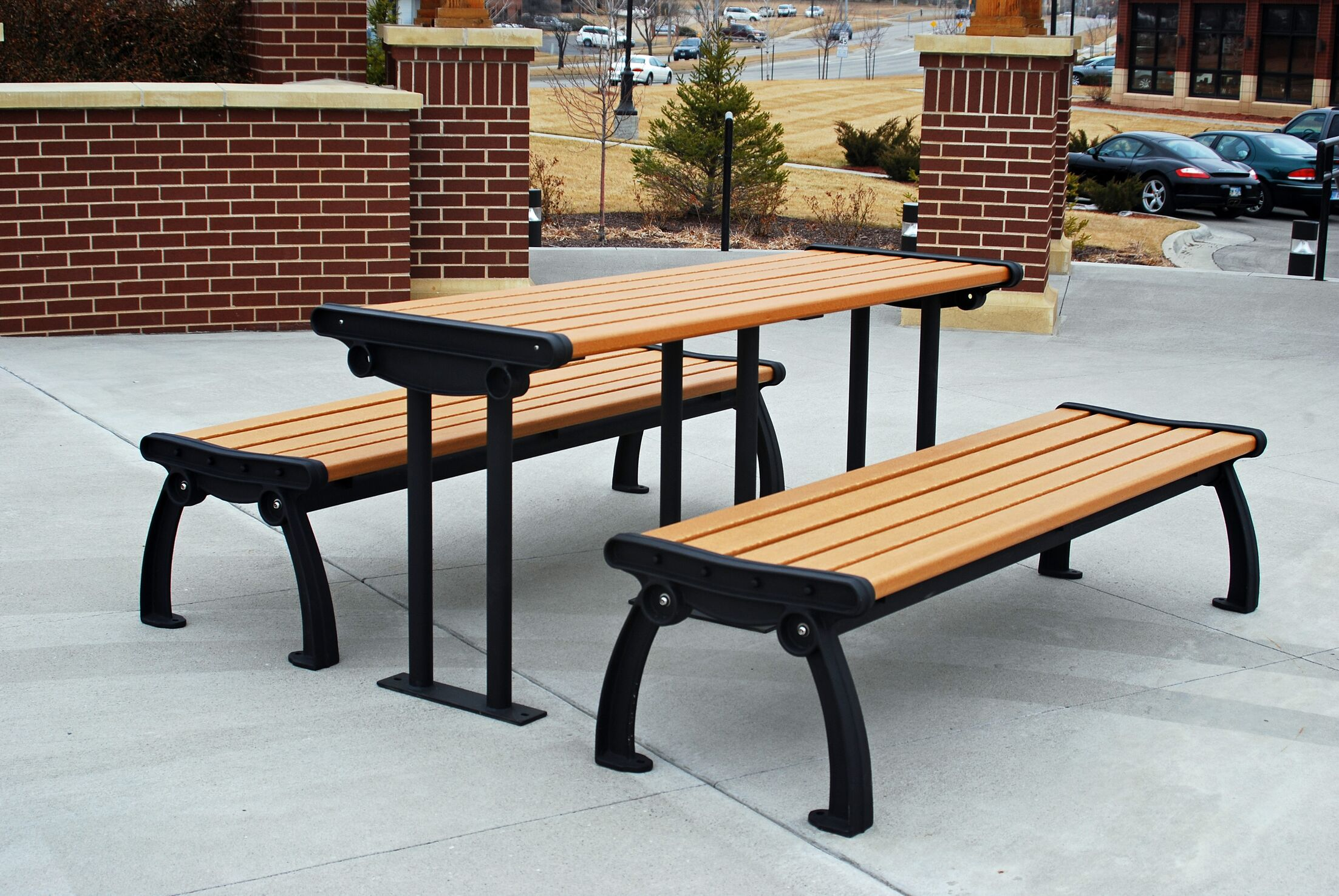 Heritage Recycled Plastic Picnic Table Color: Gray