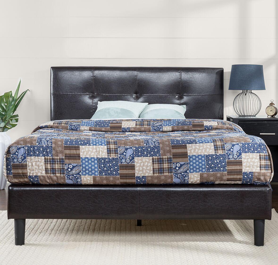 Stitched Upholstered Platform Bed Size: Full