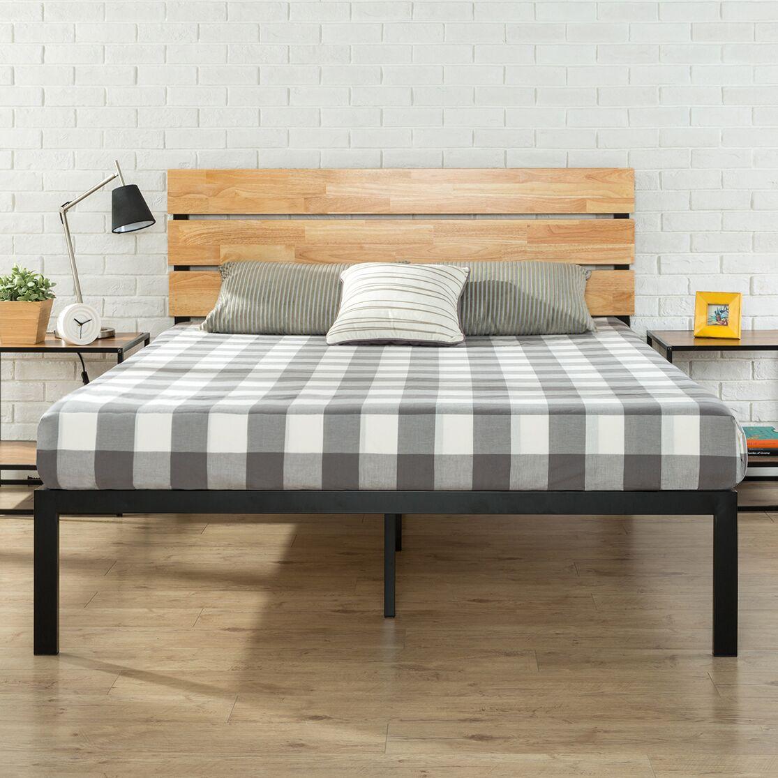 Sonoma Metal/Wood Platform Bed Size: Twin