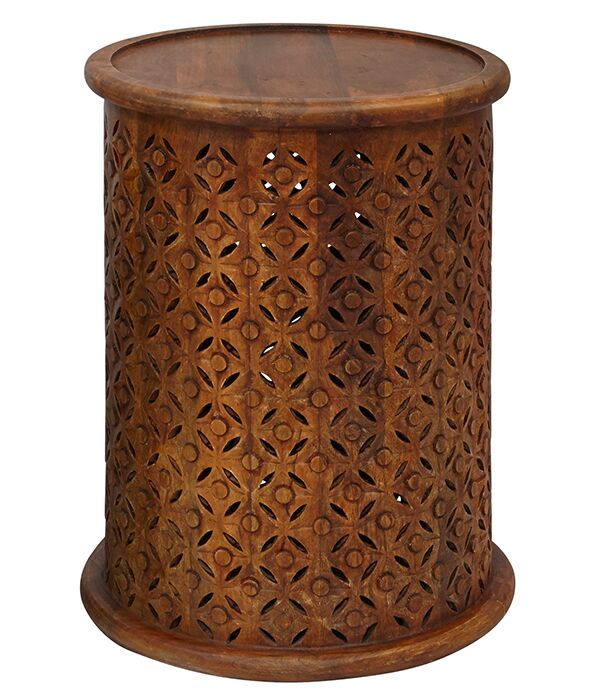 Lorraine Global Archive Drum End Table Color: Mango