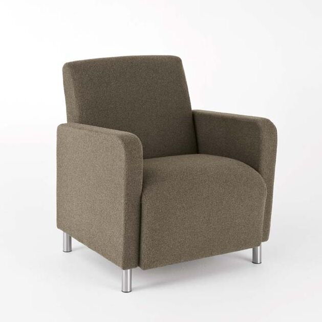Ravenna Guest Chair Upholstery: Axis Denim - Designer Fabric, Casters/Glides: Not Included