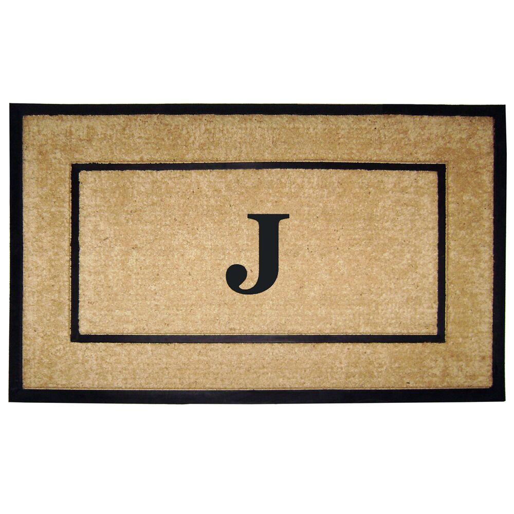 Frame Monogrammed Doormat Letter: J