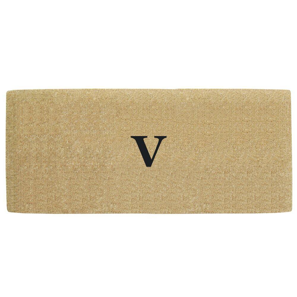 Heavy Duty Door Mat Letter: V
