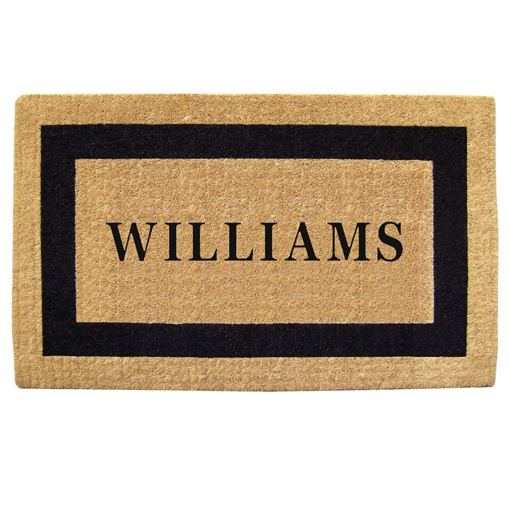 Heavy Duty Coco Single Picture Frame Personalized Door Mat Mat Size: Rectangle 1'10
