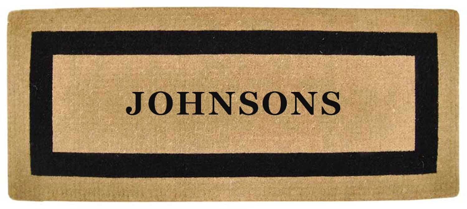 Heavy Duty Coco Single Picture Frame Personalized Door Mat Mat Size: Rectangle 2' x 4'9