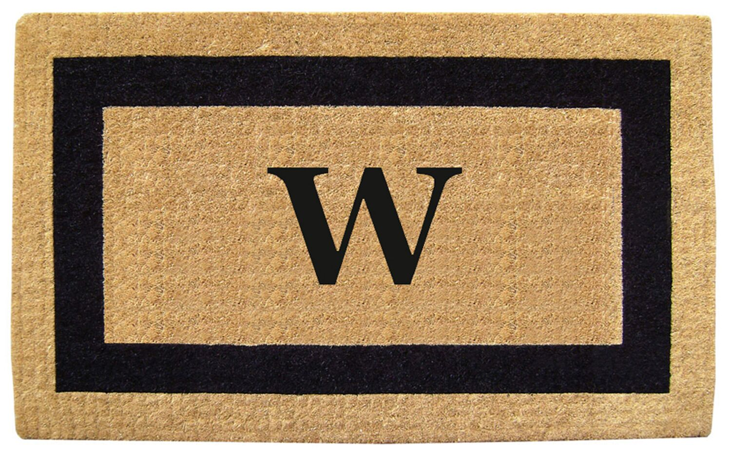 Single Picture Frame Personalized Monogrammed Doormat Color: Black