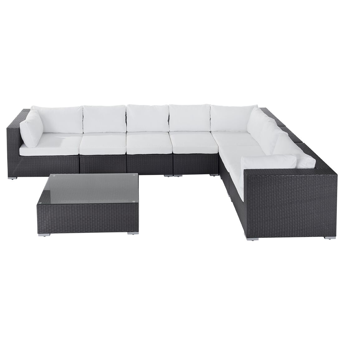 Haynie 8 Piece Sectional Set with Cushions