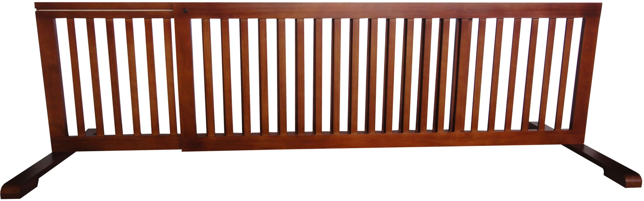 Free Standing Pet Gate Finish: Light Oak, Size: 20.1