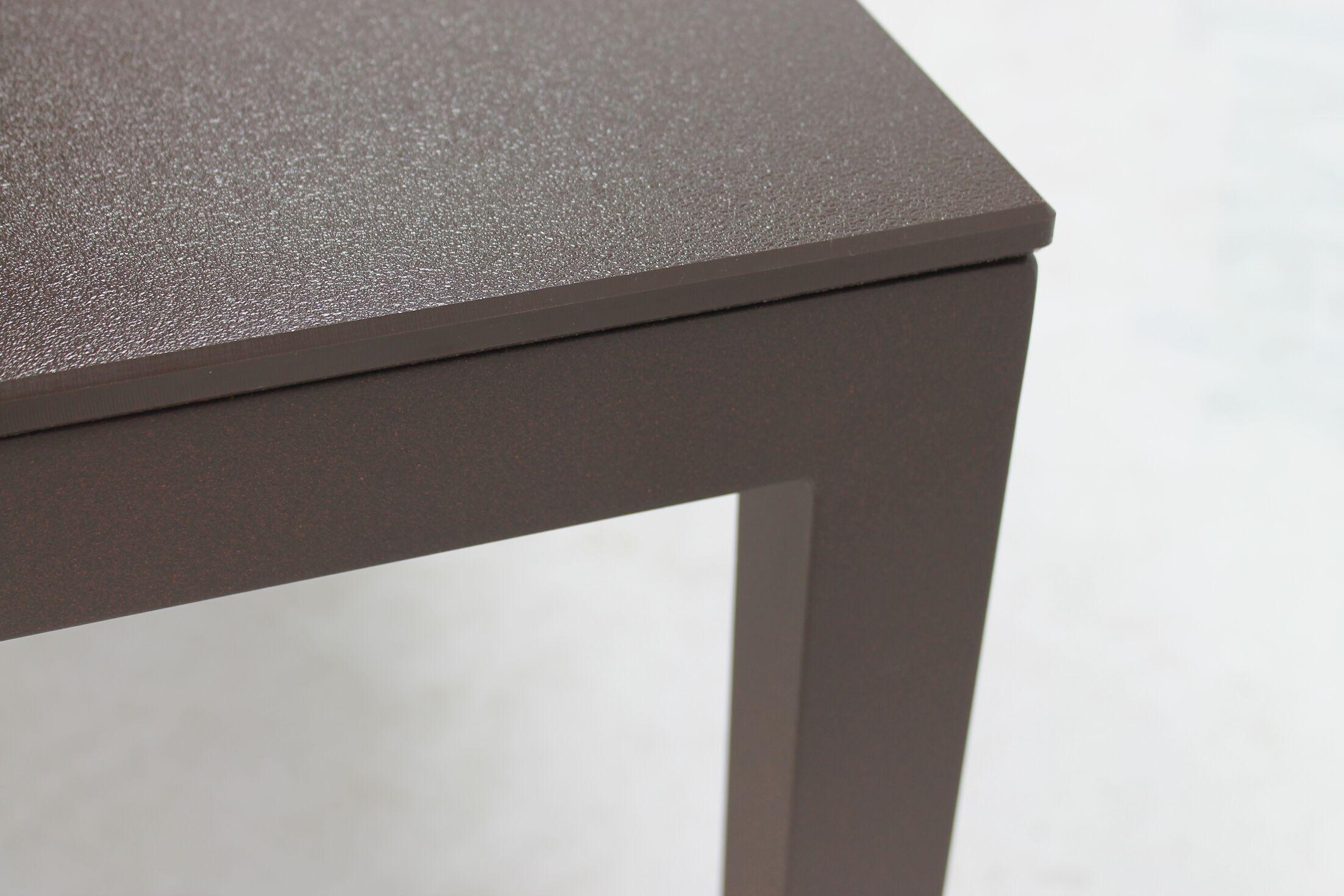 Jug Dining Table Frame Finish: White, Top Finish: Black