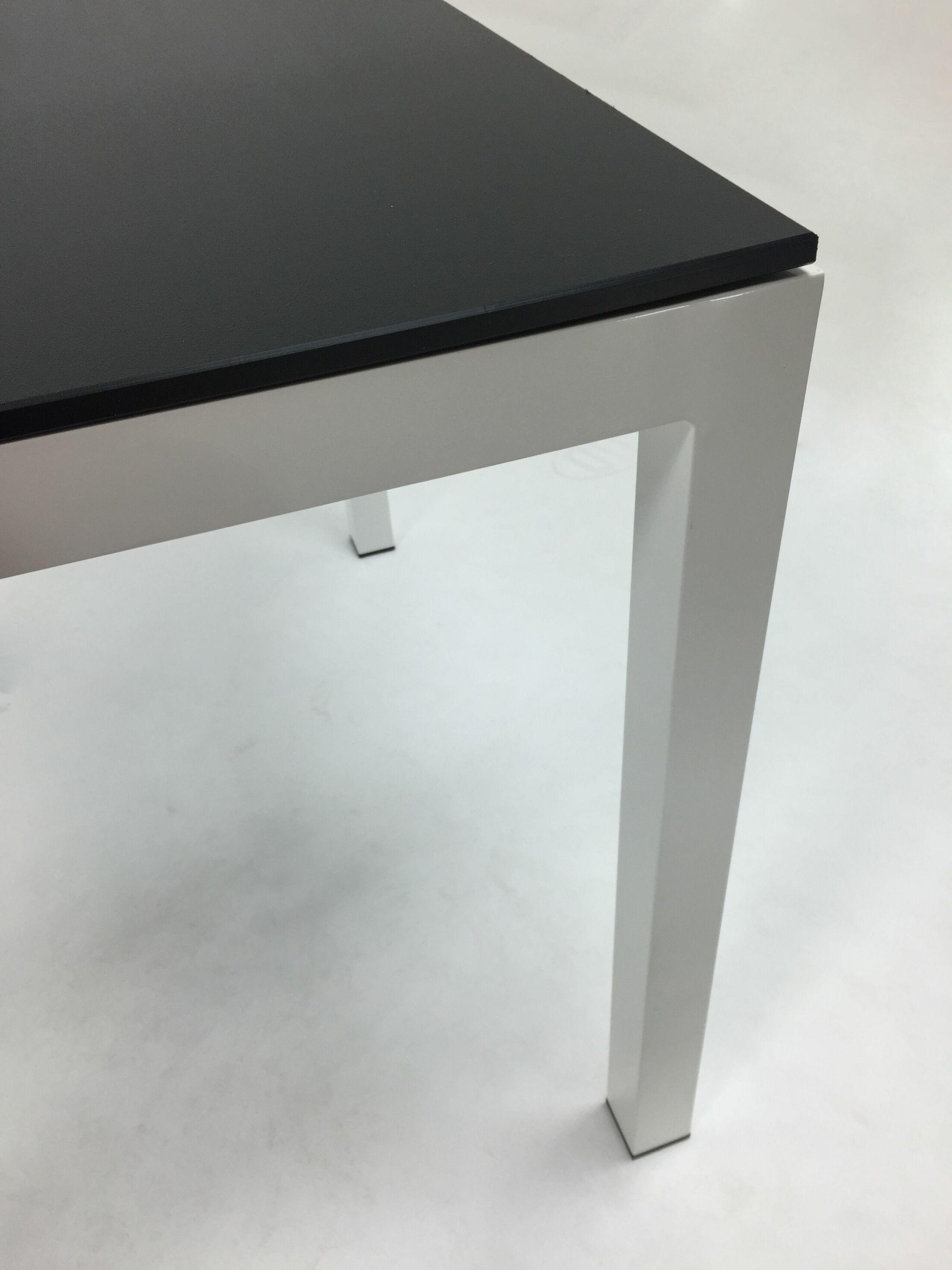Jug Dining Table Frame Finish: White, Top Finish: Blue