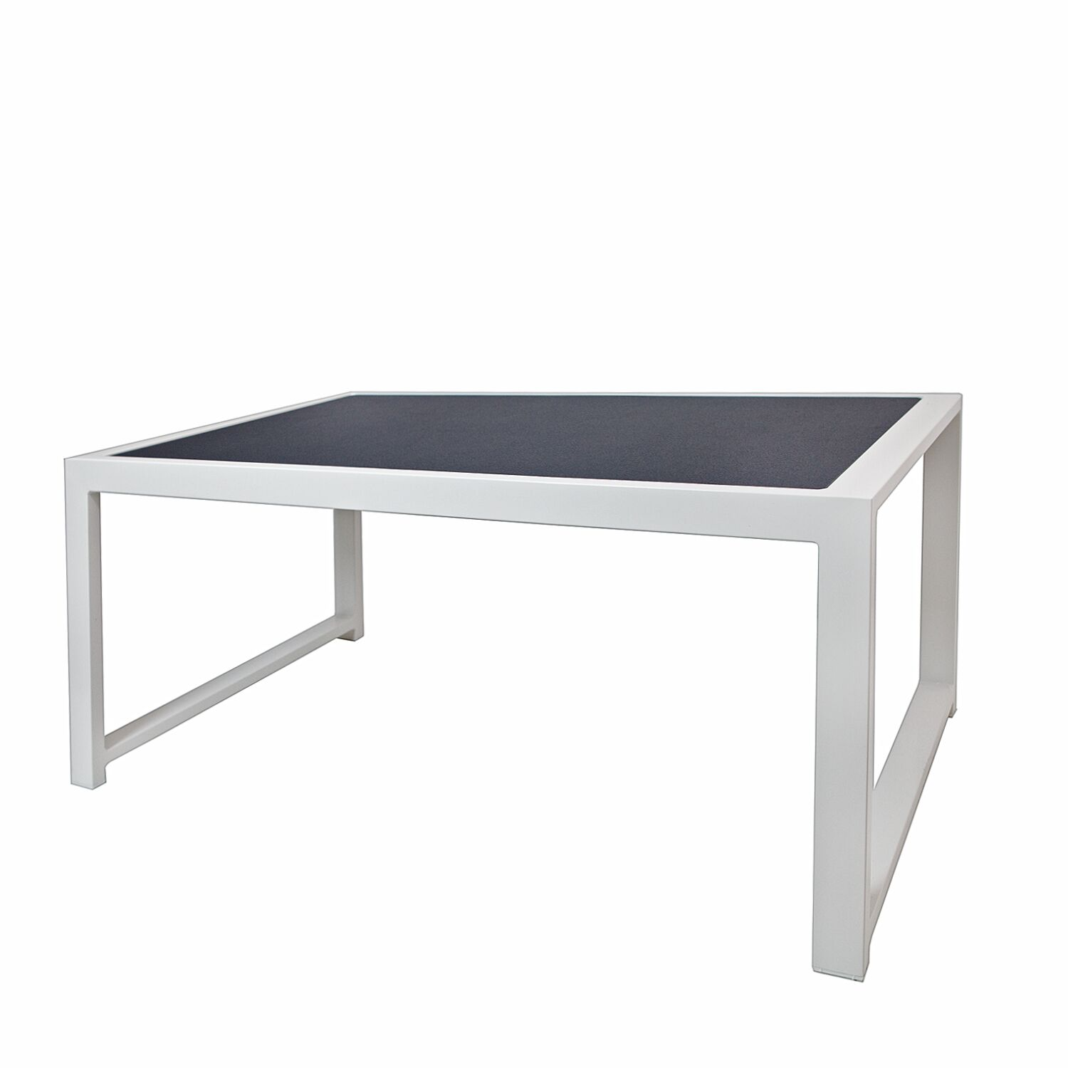 Jug Coffee Table Frame Color: White, Top Color: Black