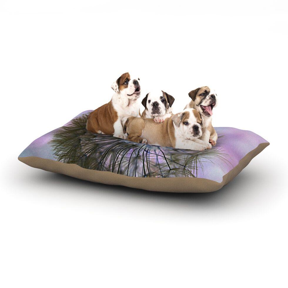 Alison Coxon 'Dandelion Clock' Dog Pillow with Fleece Cozy Top Size: Small (40