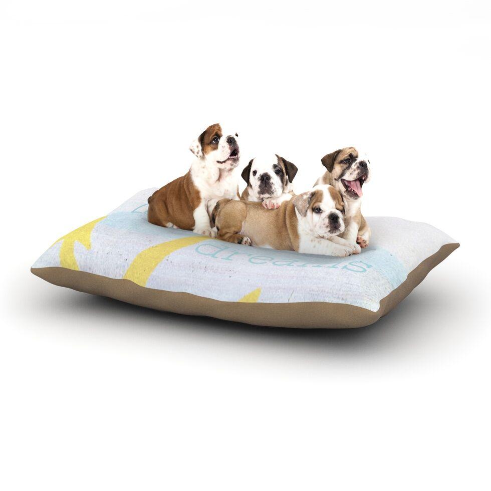 Alison Coxon 'Let Your Dreams Set Sail' Dog Pillow with Fleece Cozy Top Size: Small (40