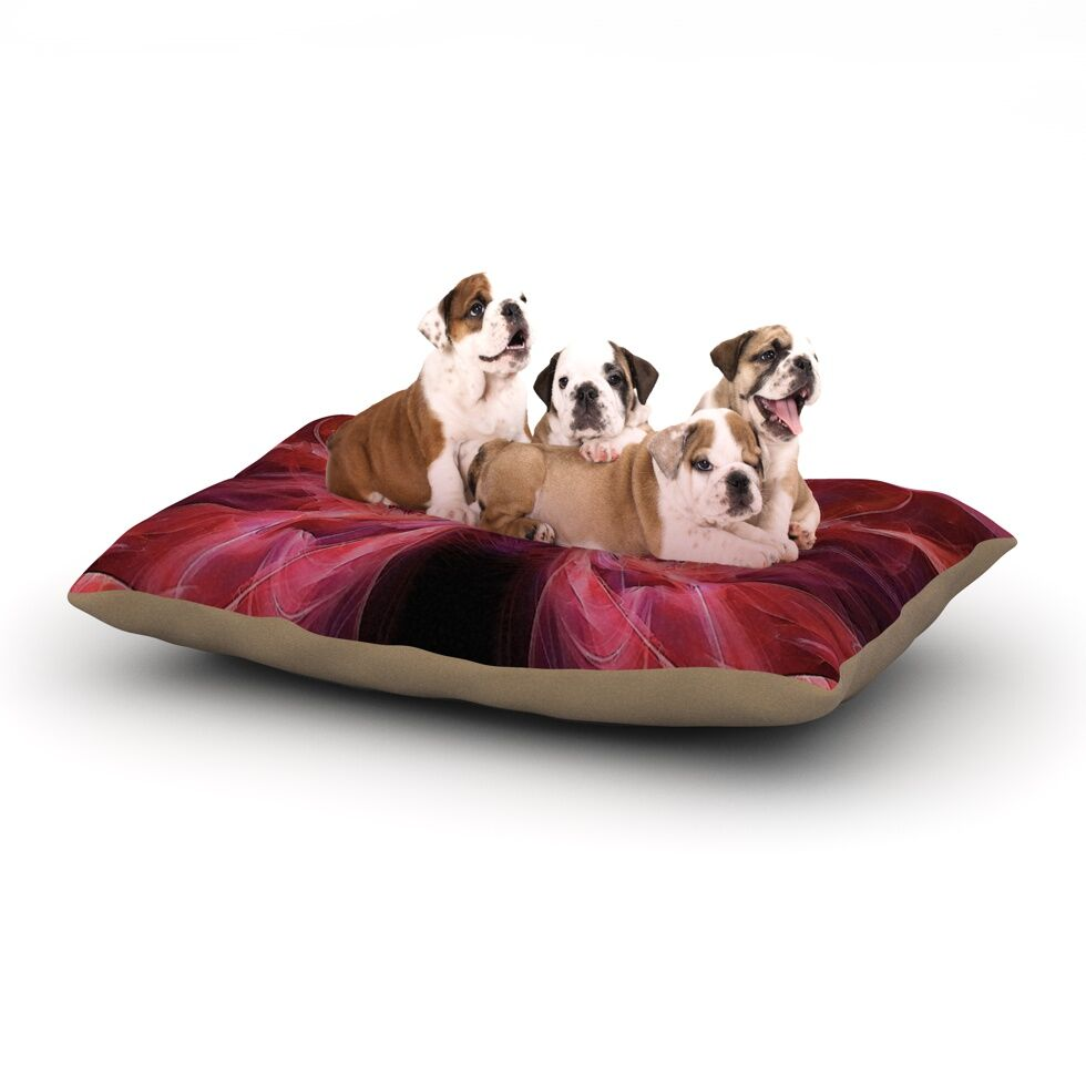Alison Coxon 'Butterfly' Dog Pillow with Fleece Cozy Top Size: Small (40