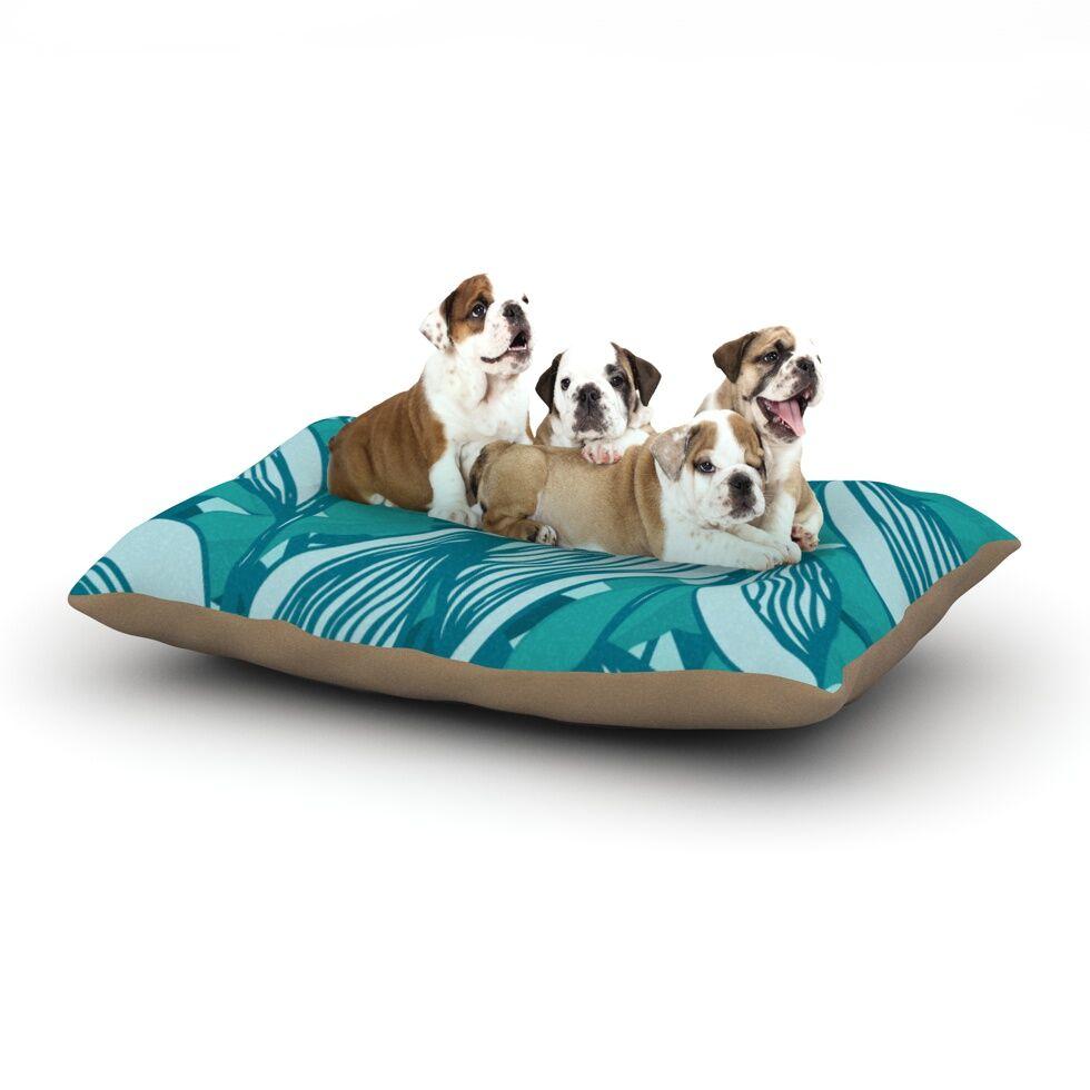 Anchobee 'Algae' Dog Pillow with Fleece Cozy Top Size: Small (40