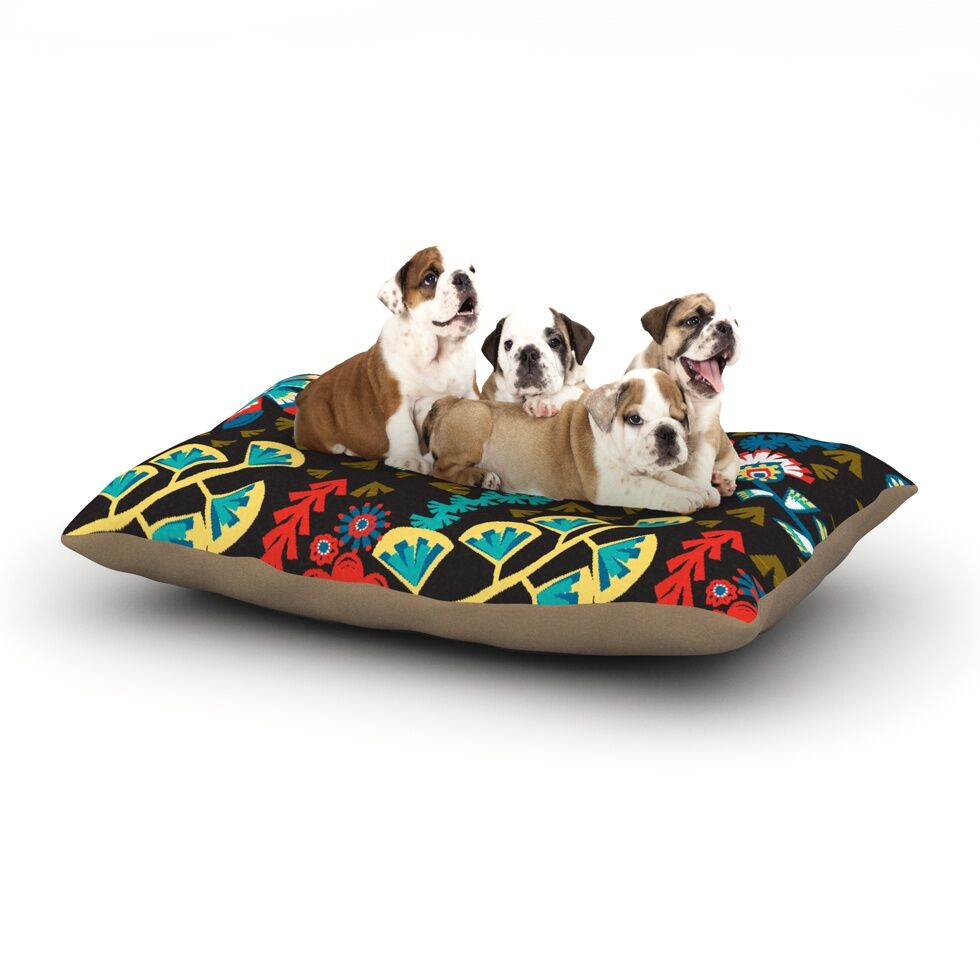 Agnes Schugardt 'Wycinanka' Abstract Dog Pillow with Fleece Cozy Top Size: Small (40