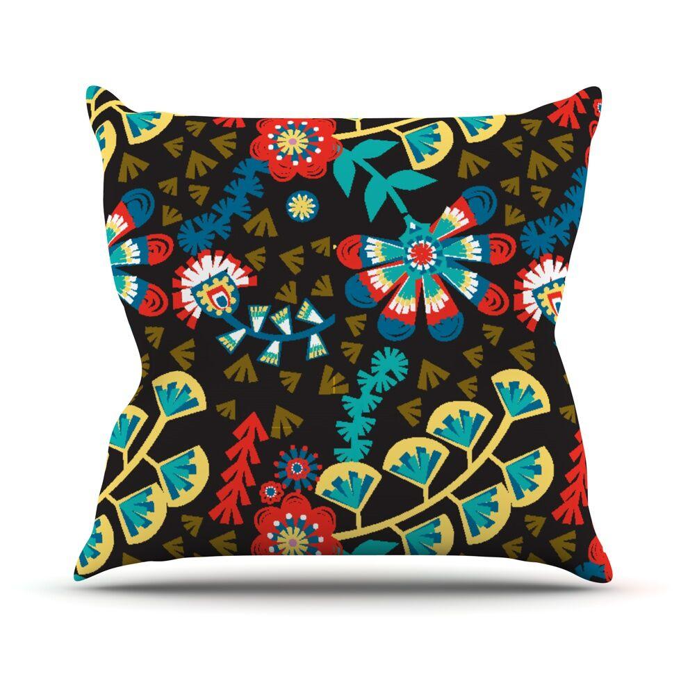 Wycinanka by Agnes Schugardt Abstract Throw Pillow Size: 26'' H x 26'' W x 1