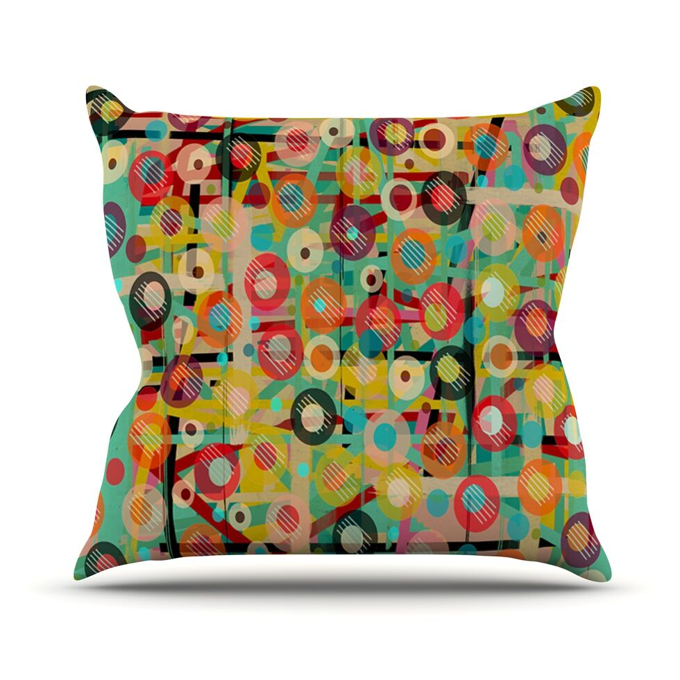 Gift Wrapped by Bri Buckley Crazy Abstract Throw Pillow Size: 26'' H x 26'' W x 1