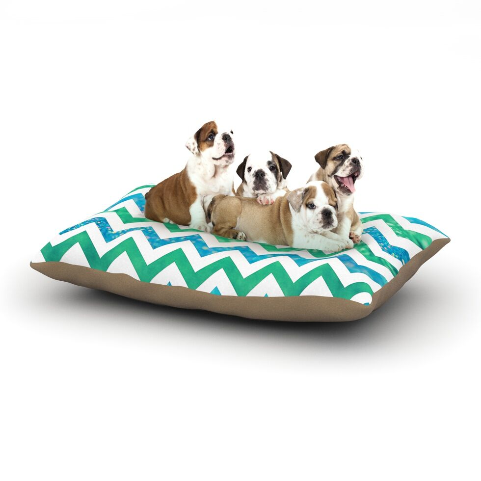 Beth Engel 'By the Sea' Dog Pillow with Fleece Cozy Top Size: Small (40