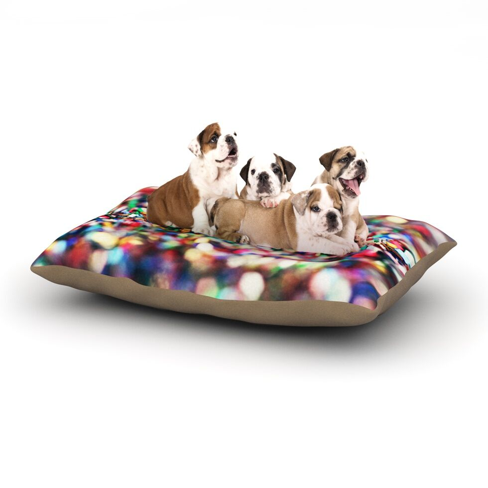 Beth Engel 'Celebrate' Dog Pillow with Fleece Cozy Top Size: Small (40