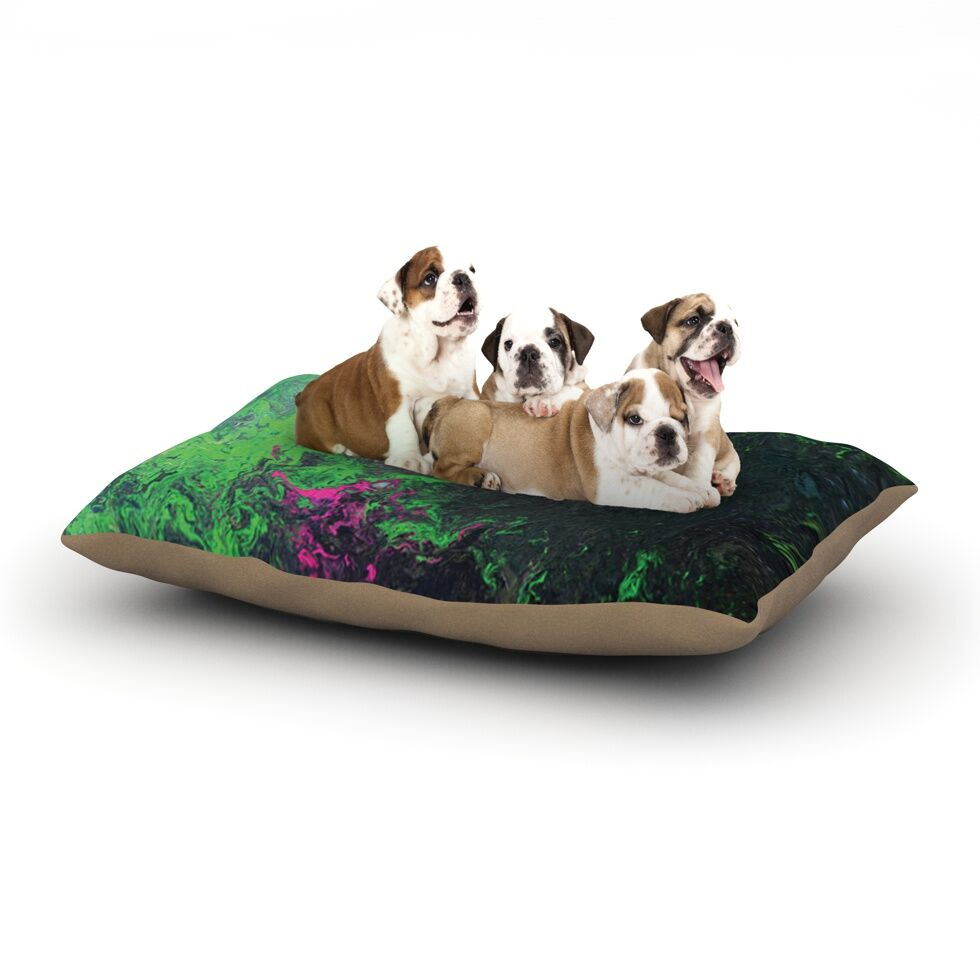 Claire Day 'Acid Rain' Dog Pillow with Fleece Cozy Top Size: Small (40