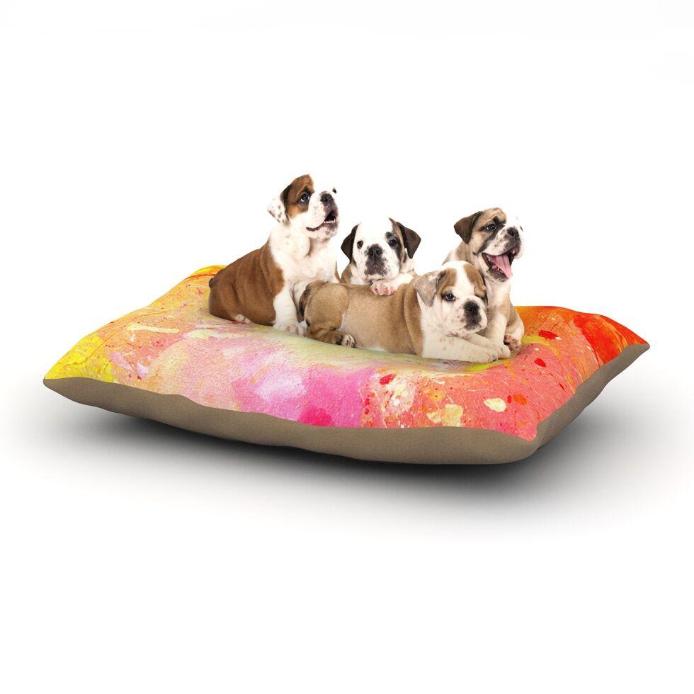CarolLynn Tice 'Splash' Dog Pillow with Fleece Cozy Top Size: Small (40